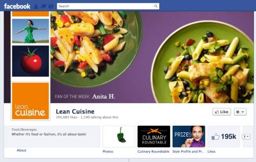 Lean Cuisine Facebook Page